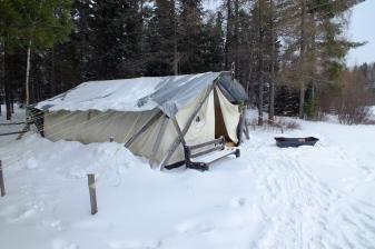 Notre tente du Trappeur